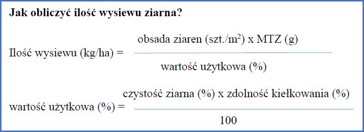 Jak obliczyć ilość wysiewu ziarna?