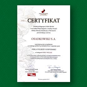 certyfikat perły polskiej gospodarki